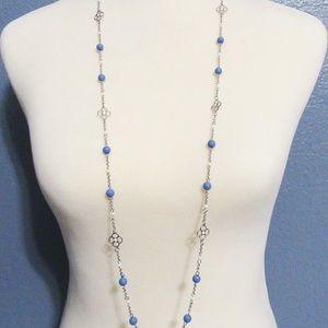 """Lia Sophia Jewelry Cloven 40-43"""" Necklace in Silve"""